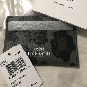 NWT Coach credit card holder